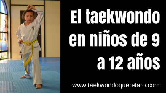 taekwondo niños 9 a 12 años